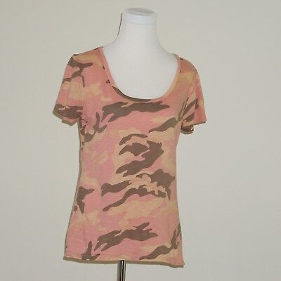 OLD NAVY Tee Shirt Pink Camo Camouflage Top Womens Medium