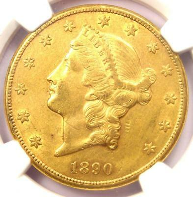 1890-CC Liberty Gold Double Eagle $20 Coin - Certified NGC AU50 - $5,500 Value!