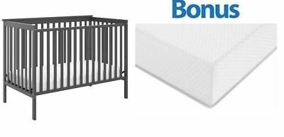 Convertible Baby Crib 4 In 1 With Bonus Premium Mattress Sheffield