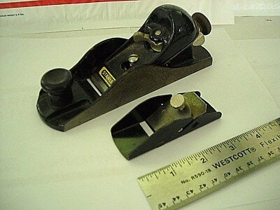 "2 Stanley Planes-220 Block -7"" England + 12-101 Finger Plane-U.s-Both Good Cond."