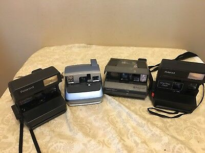 Lot of 4 Polaroid Instant Film Cameras As-Is For Parts/Repair: OneStep One600 +