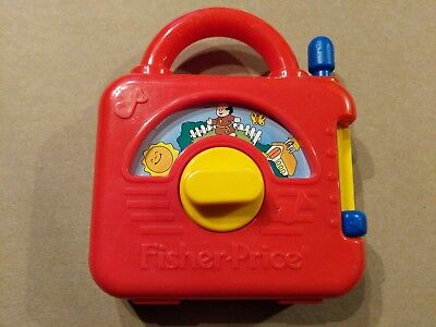 Vintage Fisher Price Red Musical Wind Up Radio 1992