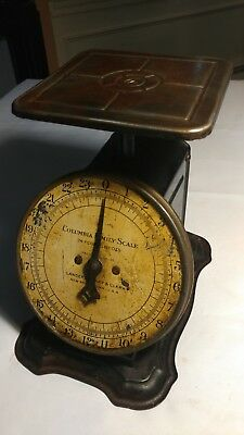 Antique Columbia Family Scale Landers, Frary & Clark 24 Pounds 1907