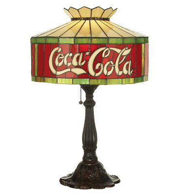 "Meyda Lighting 74067 Tiffany Style Stained Glass Coca-Cola Accent Lamp 24"" Tall"