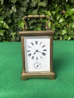 Early 20th Century French Brass Carriage Alarm Clock