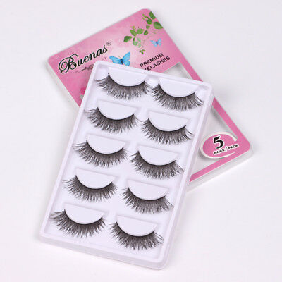 5 Pairs False Eyelashes Set Natural Long Thick Fake Eye Lashes Extension