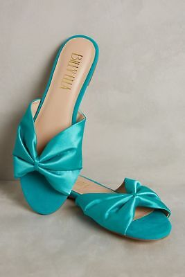 71d23503cf6c NEW ANTHROPOLOGIE BILLY Ella Satin Slide Sandals Sz 7 Size 7 ...