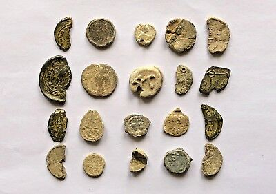 Lot Of 20 Roman And Byzantine Lead Seals. Nice Collection!