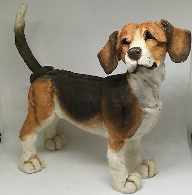 "A Breed Apart 2001 Beagle Dog Sculpture Figure #70001 Large 6.5"" x 6"""