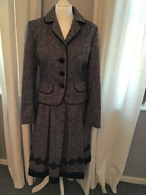 hobbs wool suit, size 12, skirt and jacket
