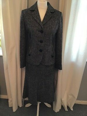 Hobbs Wool Suit, Jacket Size 12, Skirt Size 10