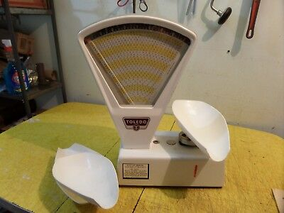 """Vintage Toledo 2lb Candy Scale model 3111 cast Working 20"""" tall"""