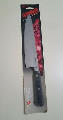 """Ekco Stainless Steel Geneva Forge 8"""" Chef's Chef Knife Vintage New Old Stock Usa"""