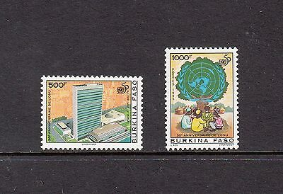 UNITED NATIONS- Burkina Faso- 1995 set of 2- (SC 1049-50) -MNH-Z249