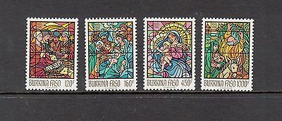 ART/STAINED GLASS - Burkina Faso - 1988 set of 4- (SC 864-7) -MNH-Z257