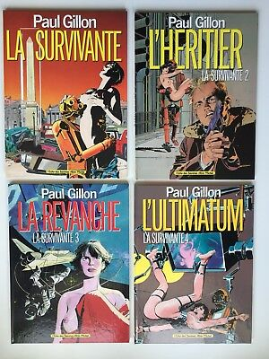 La Survivante 1 2 3 4 /paul Gillon / Lot 4 Bd Re Eo /albin Michel Serie Complete