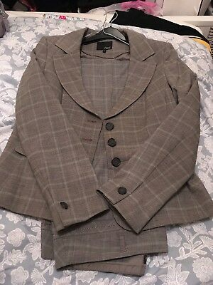 next size 14 touser suit in check