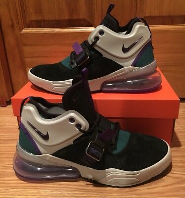 New Nike Air Force 270 Men's Size 9 Max AH6772-005 Black Grey Court Purple Shoes