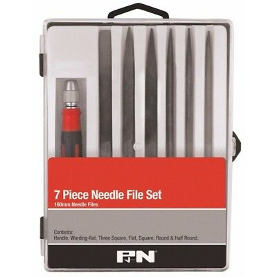 P&n 7 Piece High Carbon Steel Needle File Set - 160Mm Smooth Cut