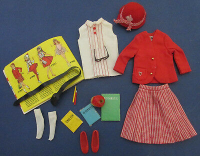 Barbie Student Teacher #1622 Skipper School Girl #1921 Geography Book Repro