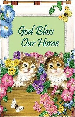 Sale! Jeweled Banner Kit! Cats In The Window~Bless Our Home! Door~Wall Hanging