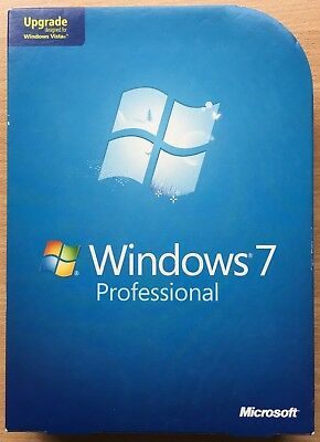 Microsoft Windows 7 Professional Upgrade 32 & 64 Bit DVDs - Retail Version