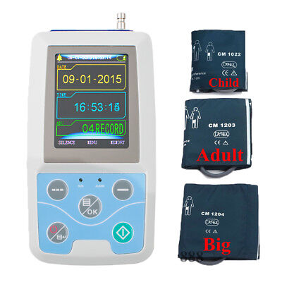24hours Record Ambulatory Blood Pressure Monitor Holter ABPM2 PC Softwar+3Cuffs