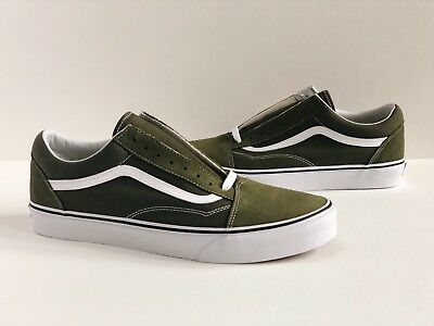 8a6770dc214a Vans Old Skool  Sz 12  Winter Moss Olive Green White Suede Canvas  Vn0A38G1Ow2