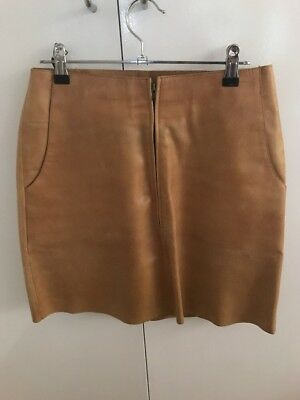 Flannel Tan Leather Skirt Size 1