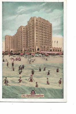 The Ambassador , Atlantic City,new Jersey Advertising Post Card, 1941