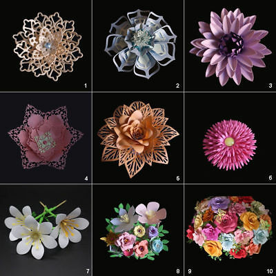 3D Flowers Cutting Dies Stencil DIY Scrapbooking Album Paper Card Embossing Leaf