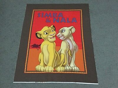 Lion King Fabric Panel Disney Cot Panel Kids Quilting Cotton Animal Simba Nala