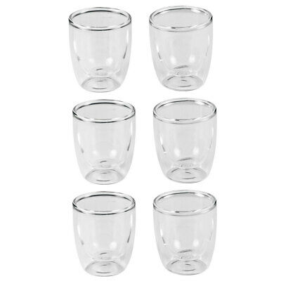 6pc Leaf & Bean 80ml Double Wall Espresso Coffee/Tea/Hot/Cold Drinking Glass/Cup