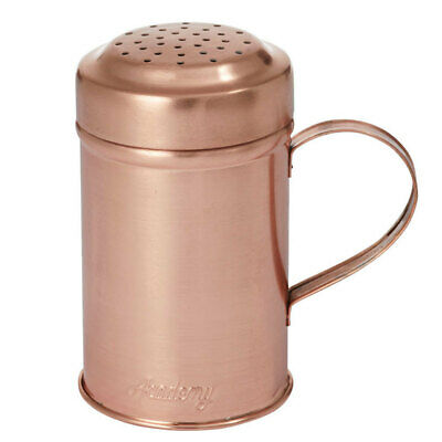 Academy 12cm Orwell Steel/Copper Plated Shaker Salt/Pepper/Spice/Cheese w Handle