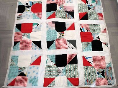 Modern Patchwork Lap Quilt Throw Handmade Cotton 3+items for FREE Post