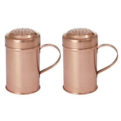 2PK Academy Orwell Steel/Copper Plated Shaker Salt/Pepper/Spice/Cheese w/ Handle