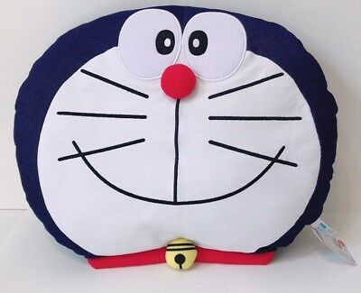 US Seller Sanrio Japan Doraemon Big Face Denim Pillow Plush 17X15""