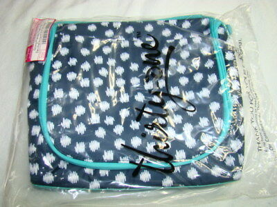 Thirty One Gifts 31 Thermal Tote Lunch Bag GOING PLACES THERMAL Navy Doodle Dot