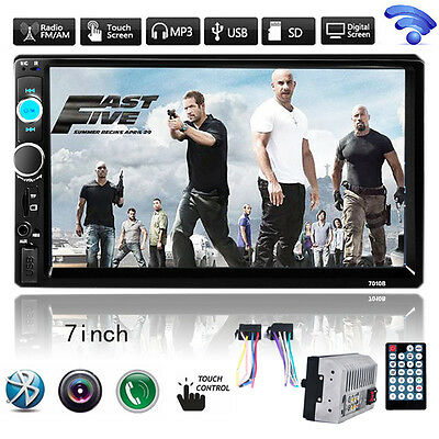 """7"""" 1080P HD 2DIN Bluetooth Touch Screen Car Stereo Radio MP5 MP3 Player"""