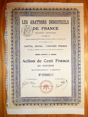 F: Les Abattoirs Industriels de France, Paris 1912*