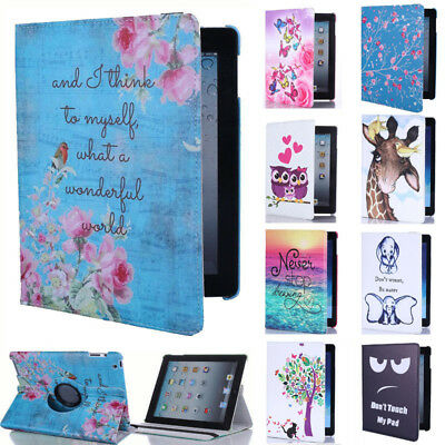 "For Huawei MediaPad T3 8"" 10"" Tablet 360° Rotating Leather Case Flip Stand Cover"
