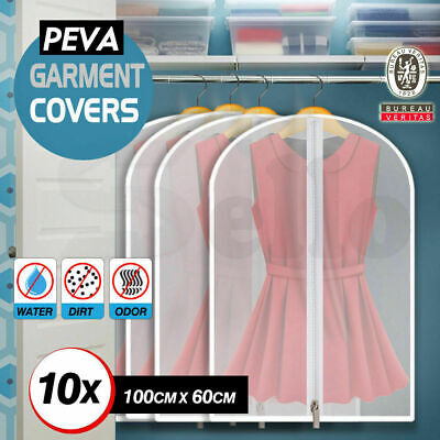 10x SUIT DRESS CLOTHING DUST COVER BAGS - Jacket Garment Storage Coat Protector