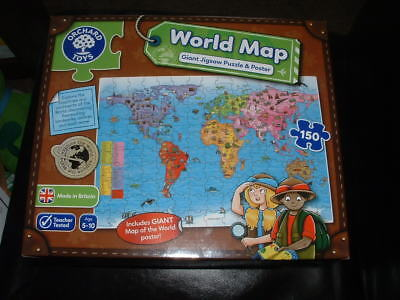 Orchard toys world map puzzle and poster 150 pieces learning toy new orchard toys world map puzzle poster giant jigsaw kids geography children travel gumiabroncs Image collections