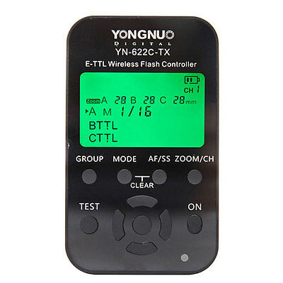 Yongnuo YN-622C-TX Wireless TTL Flash Controller Trigger for Canon 7D 5DII 5DIII