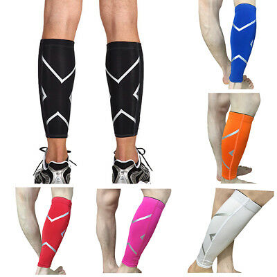 1 Pair Calf Support Brace Compression Leg Sleeve Sports Basketball Exercise AU