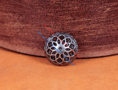 50X Nickle Rosette Rivets Button Snap Fasteners Leather Craft Belt Jeans Decor