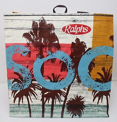 Ralphs Reusable Grocery Tote Bag Socal Southern California Beach Palm Trees