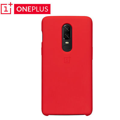 For One plus 6 1+6 Original Silicone Soft Cover Shell Protective Case Red