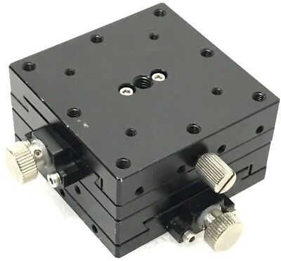 Linear Stage Positioner, Manual Stage, XY Axis,Travel ±10mm, Size 60x60x34mm