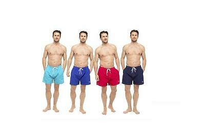 7837126b241 NEW MENS Tom Franks Plain Swim Summer Shorts Trunks Swimming Drawstring  Waist UK